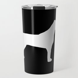 Jack Russell Terrier black and white minimal dog pattern dog silhouette Travel Mug