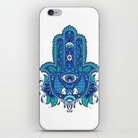 hamsa iPhone & iPod Skins featuring Hamsa by Miss Chat*Z