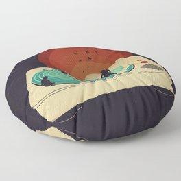 Soundwaves Floor Pillow