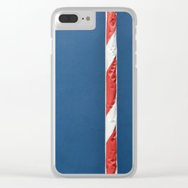 Red White Blue Clear iPhone Case