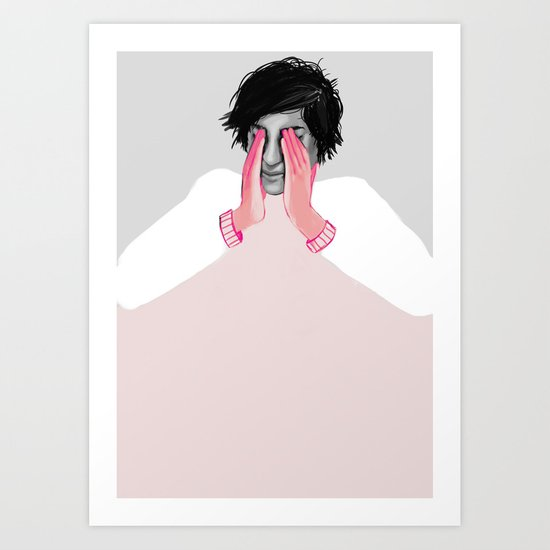 A Touch of Pink 02 Art Print