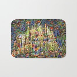 DeepDream Pictures, Cathedral Bath Mat