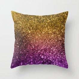 Ombre glitter #4 Throw Pillow
