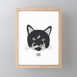 Family Cat Portraits, Buri Framed Mini Art Print