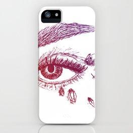 Fierce Eye - Purple iPhone Case
