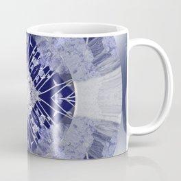 Microchip Mandala in Purple Coffee Mug