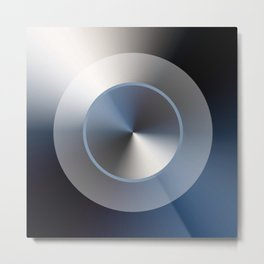 Serene Simple Hub Cap in Blue Metal Print