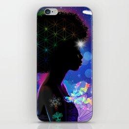 Cosmic Goddess Heart Chakra iPhone Skin