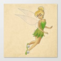 tinker bell Canvas Prints featuring Tinker bell by Joan Pons
