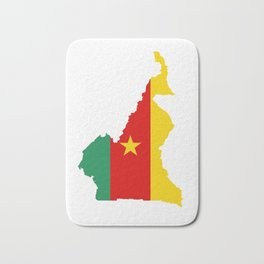 cameroon flag map Bath Mat