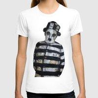 chaplin T-shirts featuring Charles Chaplin  by Krzyzanowski Art
