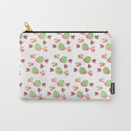 Three Fruit Combo Pattern Carry-All Pouch