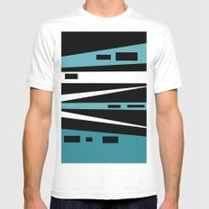 ABSTRACT ART MEDIUM White Mens Fitted Tee