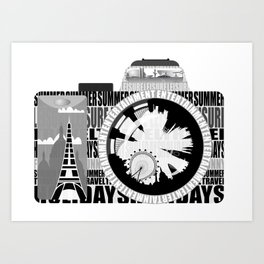 camera - holiday snaps Art Print