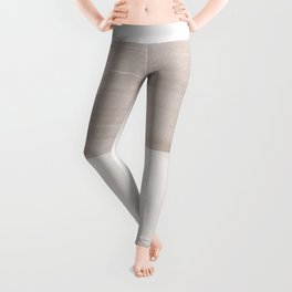 Neutral Abstract Minimalism #1 #minimal #ink #decor #art #society6 Leggings