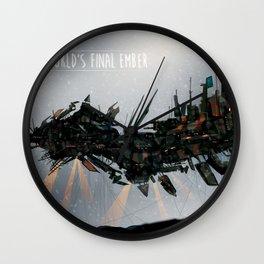 World's Final Ember Wall Clock