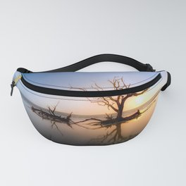 Driftwood Reflection Along the Waters Edge on Jekyll Island Beach Fanny Pack