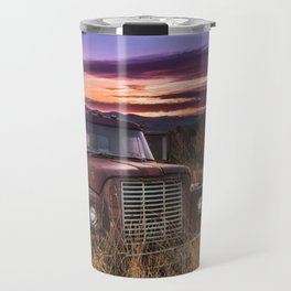 Rustic Vermont Truck Travel Mug