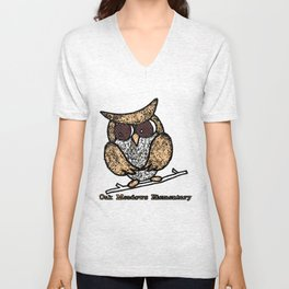 Oak Meadows Owls - Comicesque Unisex V-Neck
