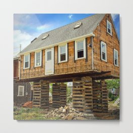 Jenga House Metal Print