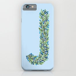 Leafy Letter J iPhone Case