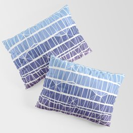 Low Poly Pink, Purple, and Blue Gradient Pillow Sham