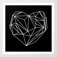 Heart Graphic (Black) Art Print