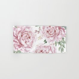 Girly Pastel Pink Roses Garden Hand & Bath Towel