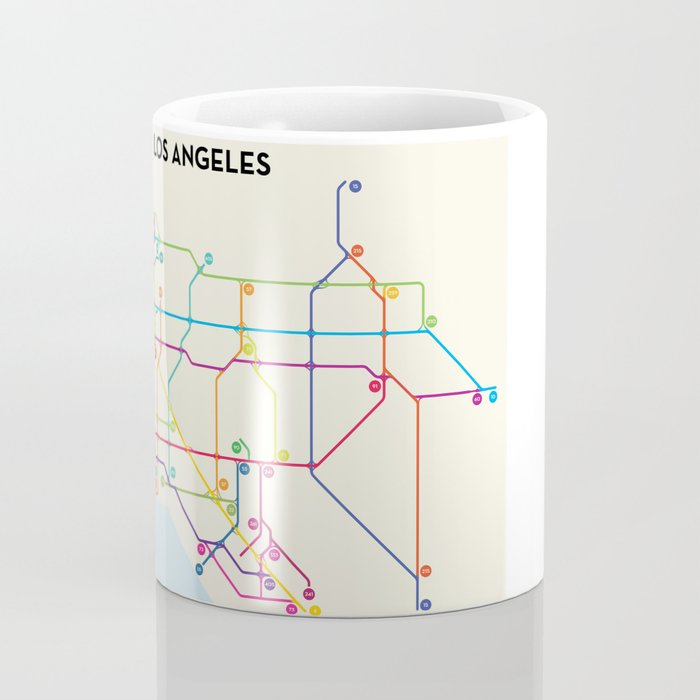 Los Angeles Freeway System Coffee Mug