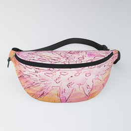 Surreal Coneflower Fanny Pack