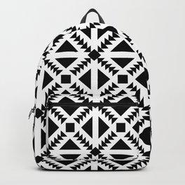 Geo Stamp Black Backpack