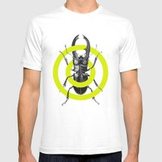 Bug & Green Mens Fitted Tee SMALL White