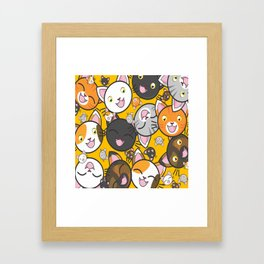 Happy Cats Framed Art Print