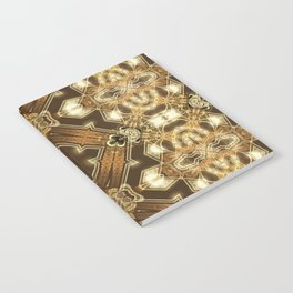 Golden Mali | Fractal Ruffles Notebook