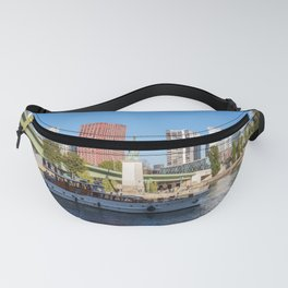 Statue of Liberty and beaugrenelle district - Paris, France Fanny Pack