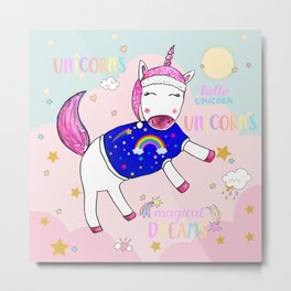 Unicorn Dreams Metal Print