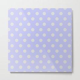 Blue Ultra Soft Lavender Thalertupfen White Pōlka Large Round Dots Pattern Metal Print