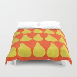15 Pears (Orange) Duvet Cover