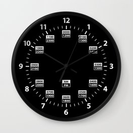 24 Hour Military Style Time Wall Clock