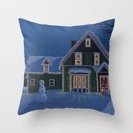 Chistmas Eve Throw Pillow