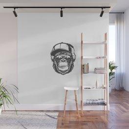 Cabeza Gorila Estilo Monocromo Wall Mural