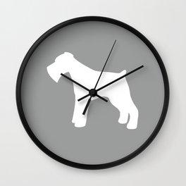 Miniature Schnauzer (Grey/White) Wall Clock