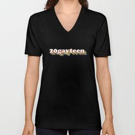 20gayteen Unisex V-Neck