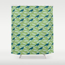 Californian Quail and home-grown sage Shower Curtain