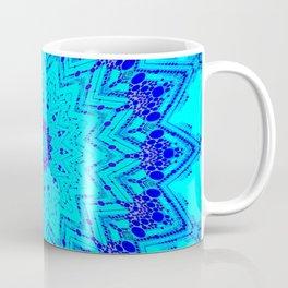 Bright blue turquoise Mandala Design Coffee Mug