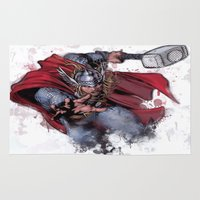 thor Area & Throw Rugs featuring Thor by Isaak_Rodriguez