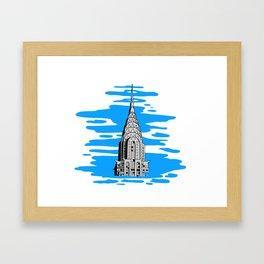 Shine like the top of the Chrysler Building! Framed Art Print