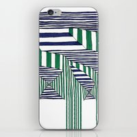 stripes iPhone & iPod Skins featuring Stripes by Take F1ve
