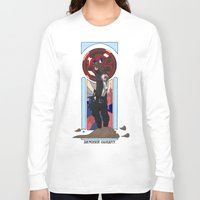 winter soldier Long Sleeve T-shirts featuring Art Nouveau Winter Soldier by Totally Bucky