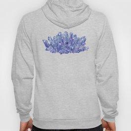 Blue/Purple Crystal Cluster Hoody
